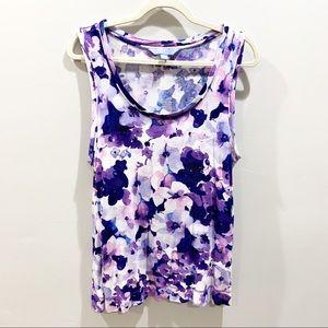 Vera Wang Floral Top in XL